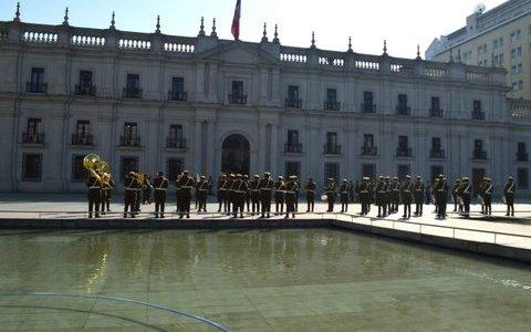 Cerimônia da troca de guarda no Chile