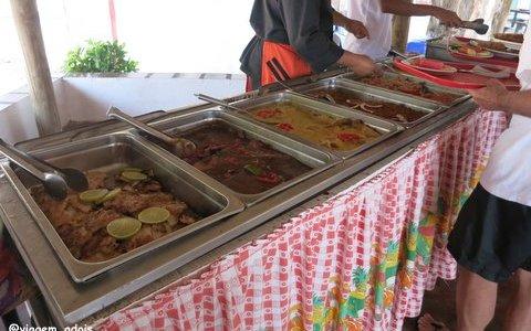 O buffet de almoço