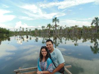 A linda Lagoa das Araras
