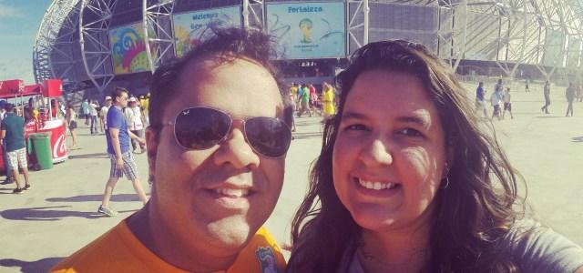 3 anos de casados e nós na Arena Castelão