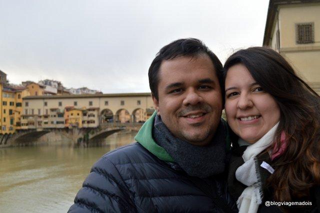 Nós com a Ponte Vechhio atrás