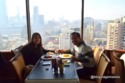 Nosso jantar romântico no Chile