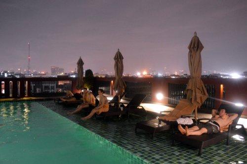 A piscina do nosso hotel