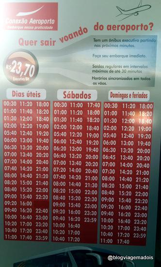 Horários dos ônibus