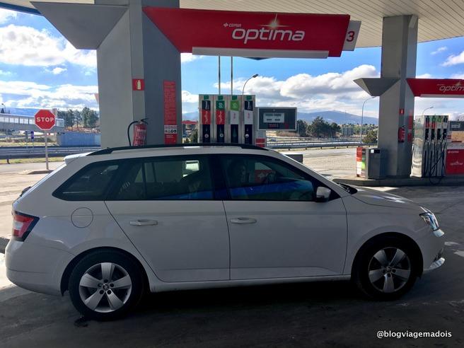 viagem de carro entre Portugal e Espanha