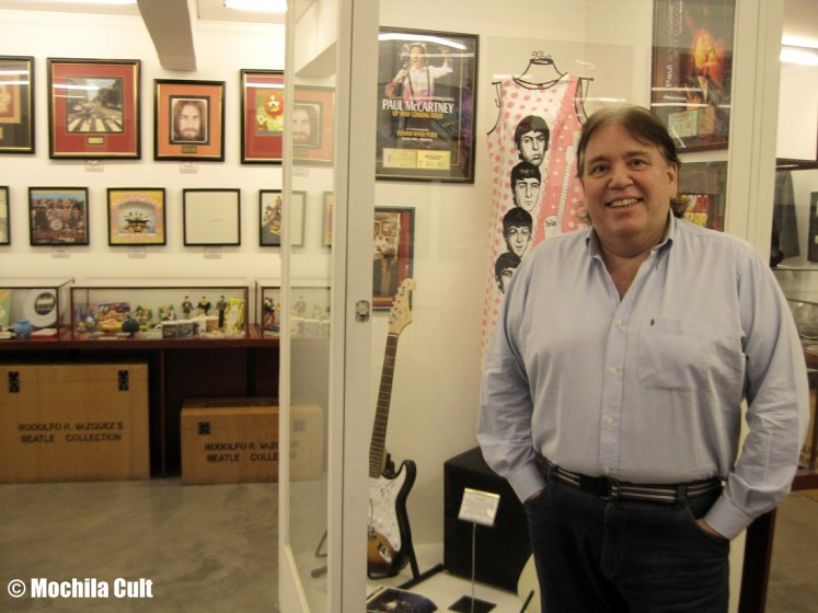 O colecionador Rodolfo Vazquez
