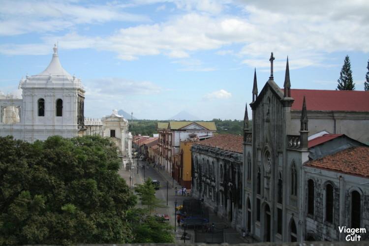 Vista do teto do museu