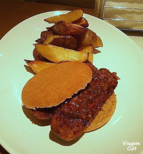 O famoso choripan veggie