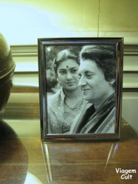 Indira Gandhi passou por lá