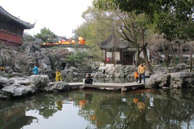 Yu Garden no local das carpas