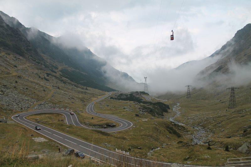 Vista da Transfagarasan, na Romênia