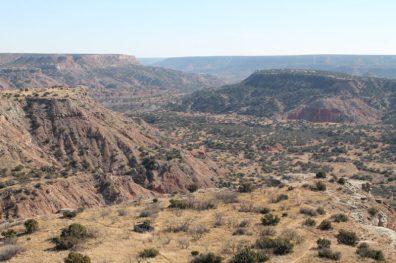 Vista par aos Canyons de Palo Duro Canyon State Park, Texas