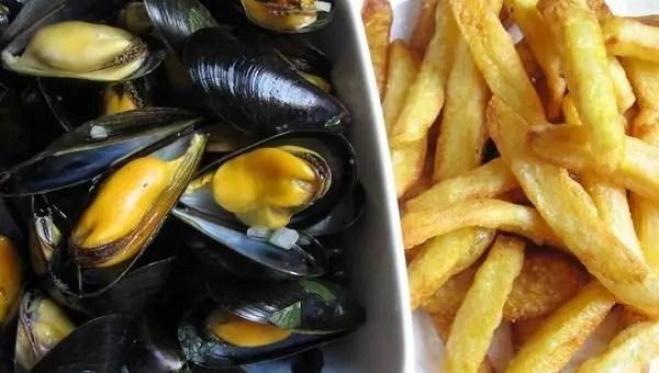 Mangiare a Bruxelles, moules et frites
