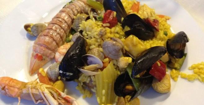 Mangiare a Rimini a La Veranda una gran paella