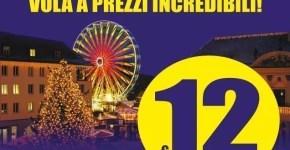 Mercatini di Natale 12€ a tratta voli con Ryanair