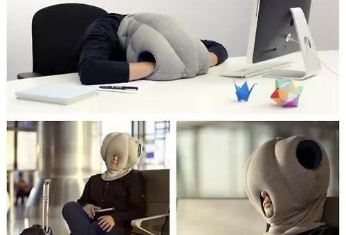 Ostrich pillow, il cuscino da viaggio per dormire alla grande ovunque