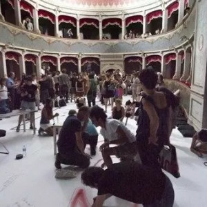 Viterbo, workshop con Cathy Marchand, del Living Theatre
