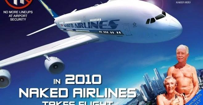 Voli aerei per nudisti, ecco la Naked Airlines