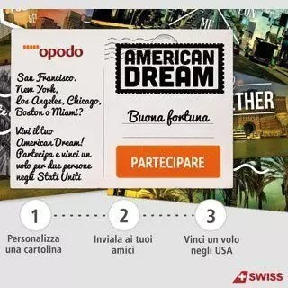 American Dream, vinci un volo in America con Opodo