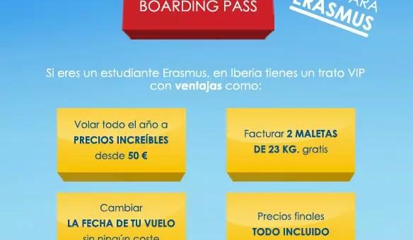 Erasmus Boarding Pass sconti con Iberia per chi studia in Spagna