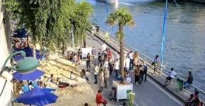 Le spiagge di Parigi lungo la Senna