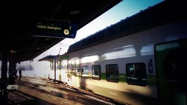Trasporti pubblici in Finlandia. Più che puntuali.