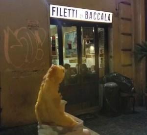 Dar Filettaro a Santa Barbara, il baccalà a Roma