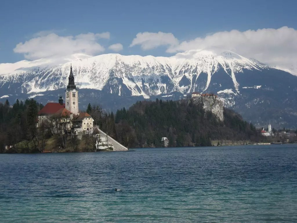 Bled, Bled Island, Bled Castle and Parish Church of St Martin