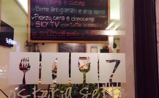 Osteria sette a Roma: la carbonara migliore