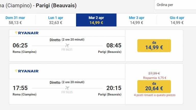 Le offerte Ryanair per i voli tra Aprile e Maggio