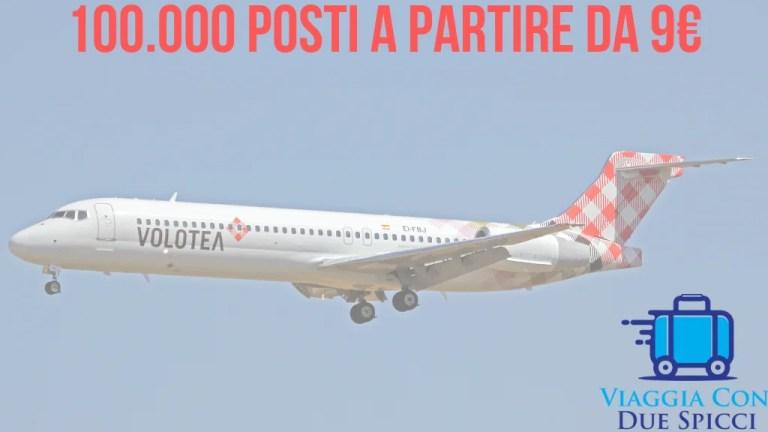 Con Volotea tanti voli per l'estate a partire da 9,99€