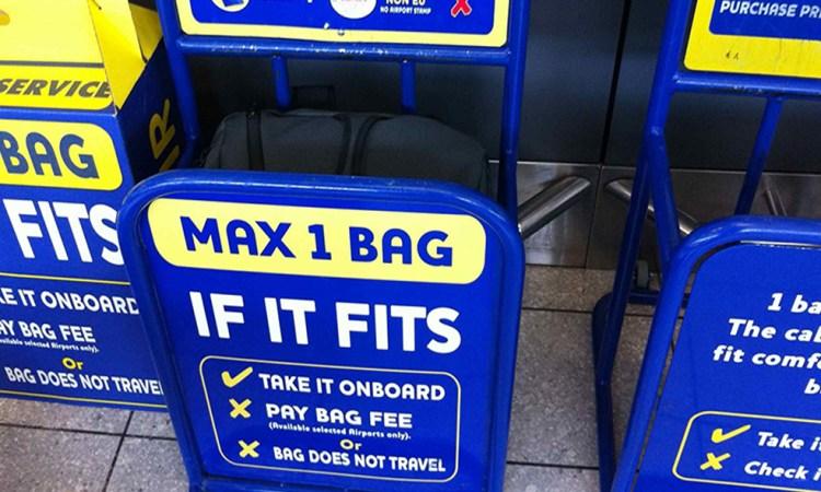 bagagli in cabina Ryanair