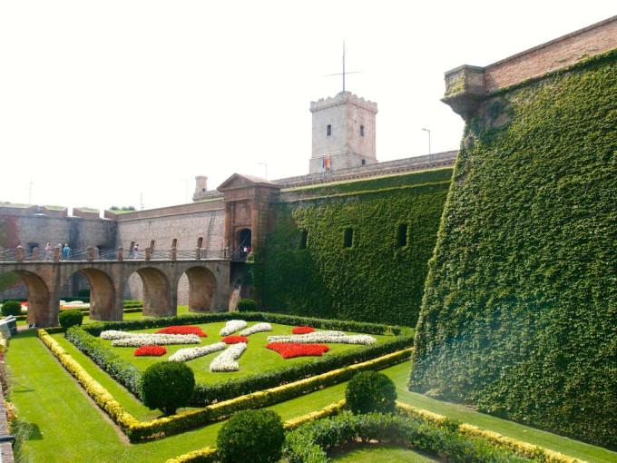 barcelona giardini castello montjuic