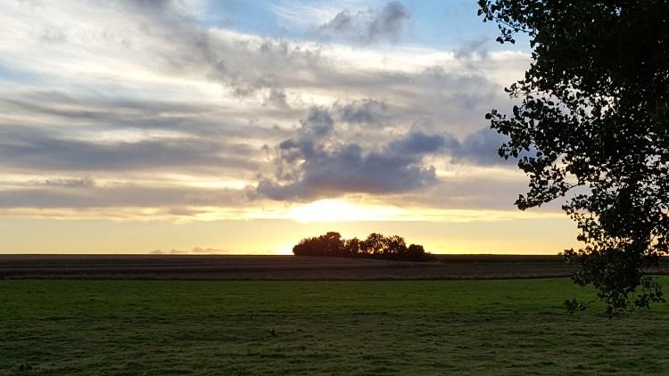 tramonto campagna normandia