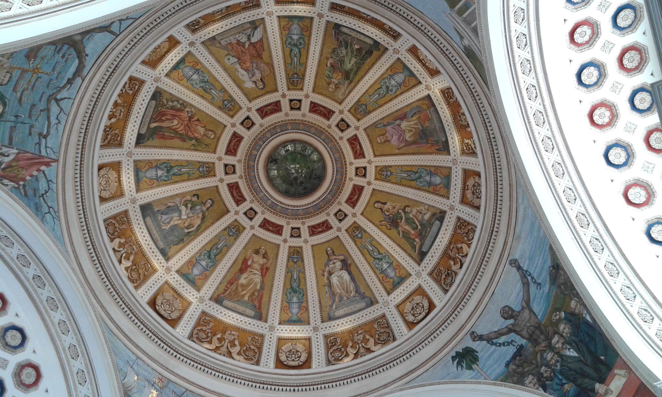 affreschi sul soffitto del capitolio san juan de puerto rico