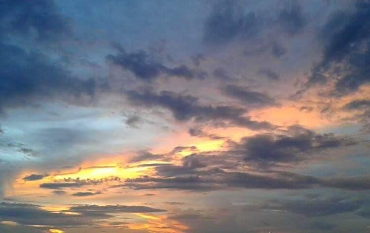 il cielo di san juan de porto rico al tramonto