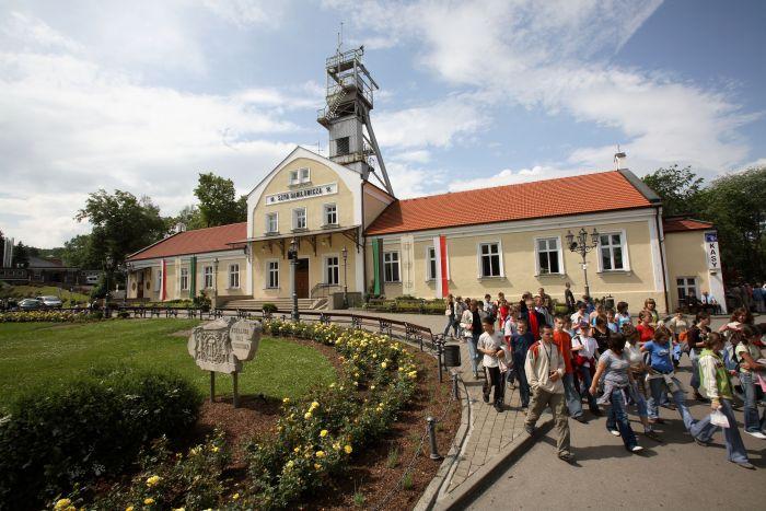 ingresso al sito che ospita la Miniera di Sale di Wieliczka vicino a cracovia in polonia