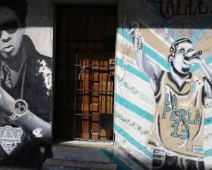 murales dei calle 13 su una casa de la perla