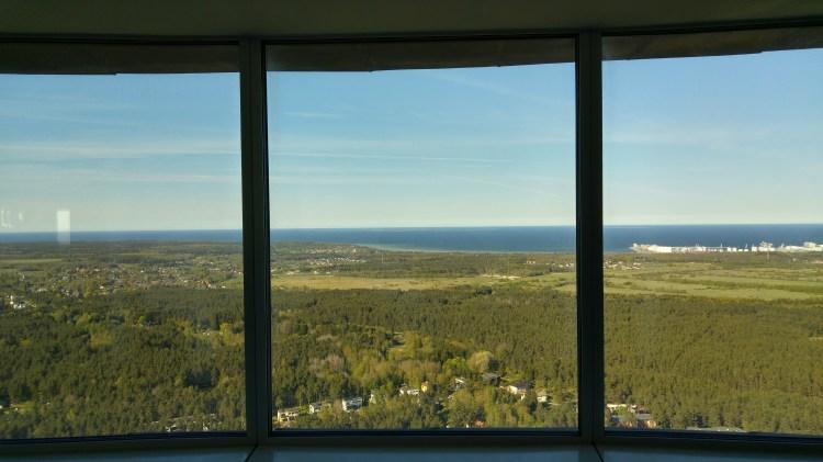 il panorama visto dalla teletorn, la torre della televisione di tallinn