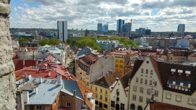 Vista di Tallinn dalla Town Hall Tower