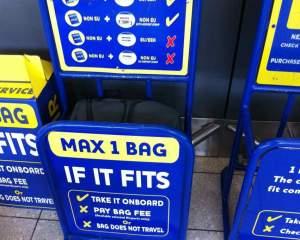 misuratore bagagli a mano ryanair
