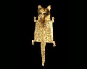 borsa cerimoniale in oro nel museo oro de perù y armas del mundo