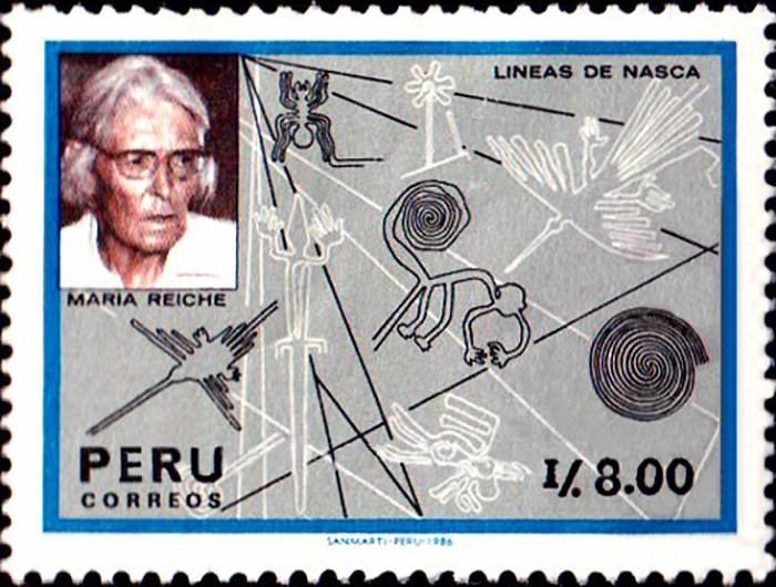 il francobollo commemorativo dedicato a Maria Reiche