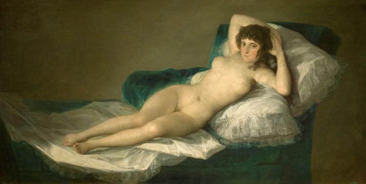 la maja desnuda di francisco de goya esposta al museo del prado