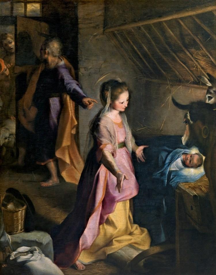 Natività di Federico Barocci esposta al museo del prado