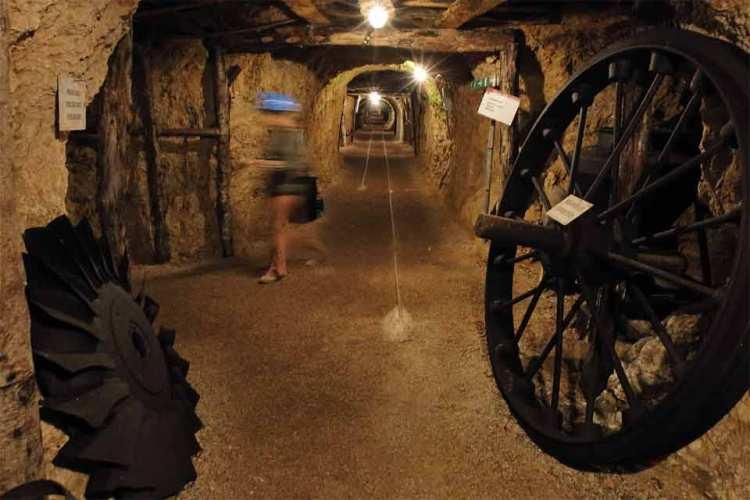 Una galleria del Museo della Miniera di Massa Marittima