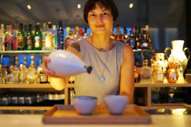 una degustazione di sake