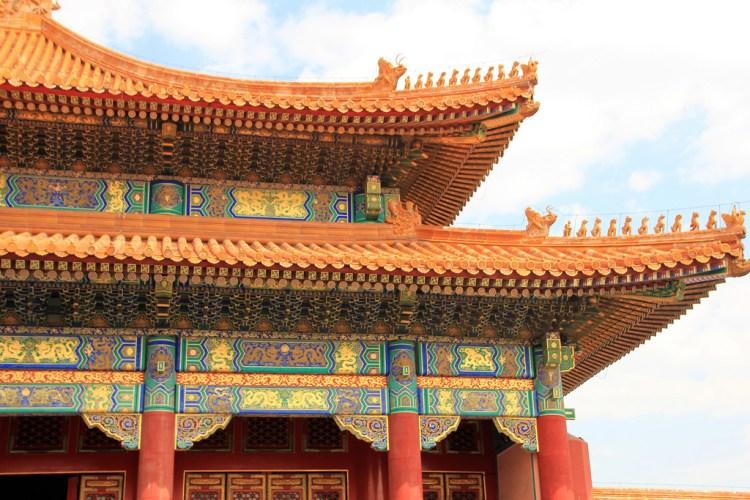 Il dettaglio di un palazzo della Città Proibita di Pechino
