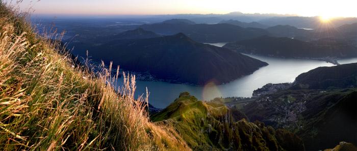 il Monte San Giorgio nel Canton Ticino, in Svizzera