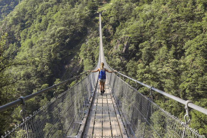 ponte tibetano Carasc a Corzutt | Fonte: Ticino Turismo